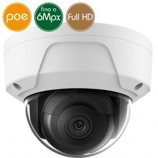 Telecamera dome IP SAFIRE PoE - 6 Megapixel - Allarmi - Audio - IR 30m
