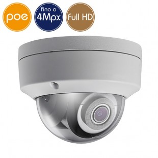 Telecamera dome IP SAFIRE PoE - 4 Megapixel - Ultra Low Light - Microfono - IR 30m