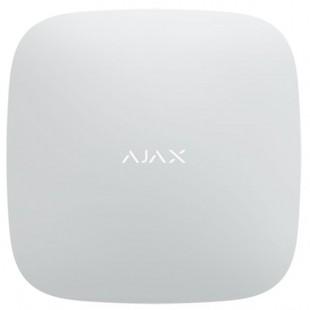 Pannello di controllo di sicurezza con WiFi LTE 4G Dual SIM Hub Plus wireless Ajax bianco