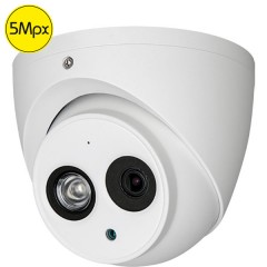 Telecamera dome HD - 5 Megapixel - Ultra Low Light - Microfono - IR 50m
