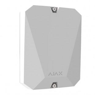 MultiTransmitter modulo wireless per il collegamento di allarmi cablati Ajax bianco