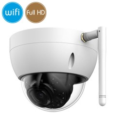 Dome camera wireless IP WiFi - 2 Megapixel / Full HD (1080p) - microSD - IR 30m