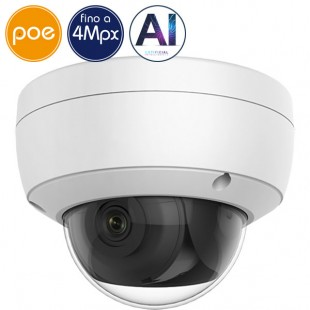 Telecamera dome IP SAFIRE PoE - 4 Megapixel - Intelligenza Artificiale 2 - IR 30m