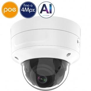 Telecamera dome IP SAFIRE PoE - 4 Megapixel - Intelligenza Artificiale 2 - IR 40m