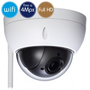 Dome camera wireless IP WiFi PTZ - 4 Megapixel / Full HD - Zoom 4X