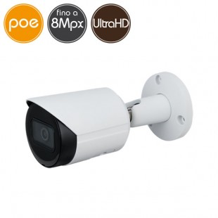 Camera IP PoE - 8 Megapixel Ultra HD 4K - Ultra Low Light - IR 30m