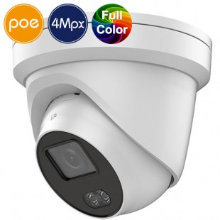 Telecamera dome IP SAFIRE PoE a colori di notte - 4 Megapixel - IR 30m