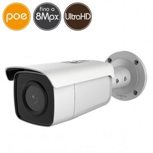 Telecamera IP SAFIRE PoE - 8 Megapixel Ultra HD 4K - microSD - IR 80m