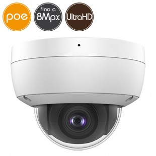 Dome camera IP SAFIRE PoE - 8 Megapixel Ultra HD 4K - Mic - IR 30m