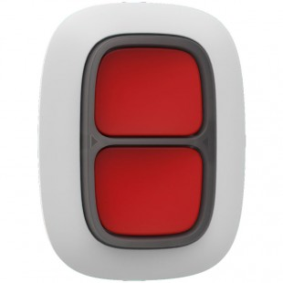 Doppio pulsante antipanico wireless smart button Ajax bianco