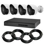 KIT videosorveglianza HD 1080p - Full HD - DVR 4 canali - 4 telecamere