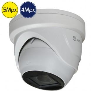 Telecamera dome HD SAFIRE - 5 e 4 Megapixel - Ottica motorizzata 2.7-13.5mm - IR 40m
