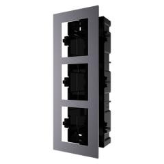 Pannello frontale e scatola di registro da incasso 3 moduli