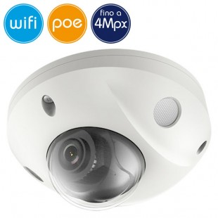 Telecamera dome wireless IP WiFi PoE - 4 Megapixel - Allarmi - Microfono - IR 30m