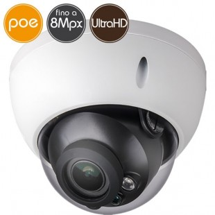 Camera dome IP PoE - 8 Megapixel - Motorized 2.7-13.5mm Audio AlarmsIR 40m