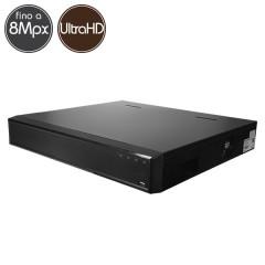 Videoregistratore IP NVR 64 - 8 Megapixel / Full HD - ALLARMI RAID Ultra HD 4K