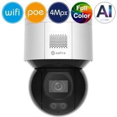 Telecamera WiFi IP SAFIRE PoE PT - 4 Megapixel - Night Color - IR 30m