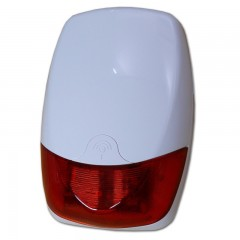 Outdoor siren with flashlight