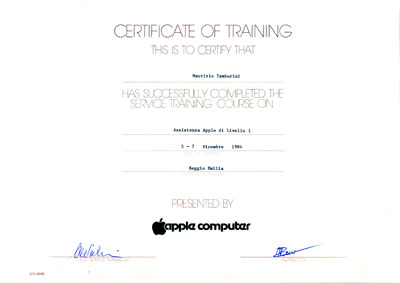 Certificato Apple