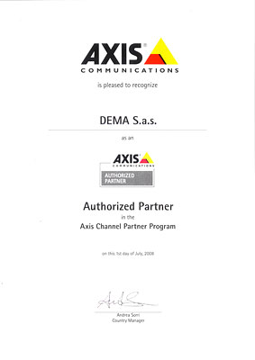 Certificato Partner AXIS